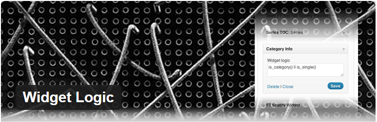 widgets wordpress widget logic