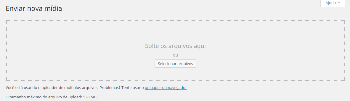 Enviar nova mídia ‹ wordpress tutorial — WordPress