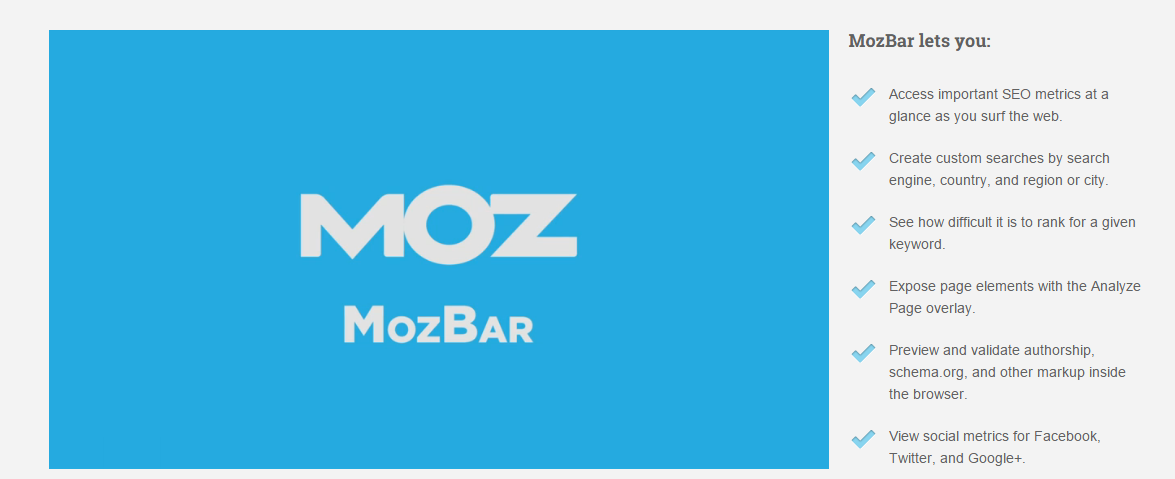 SEO Toolbar for Firefox Chrome Download the Free MozBar SEO Plugin Moz O que é Seo