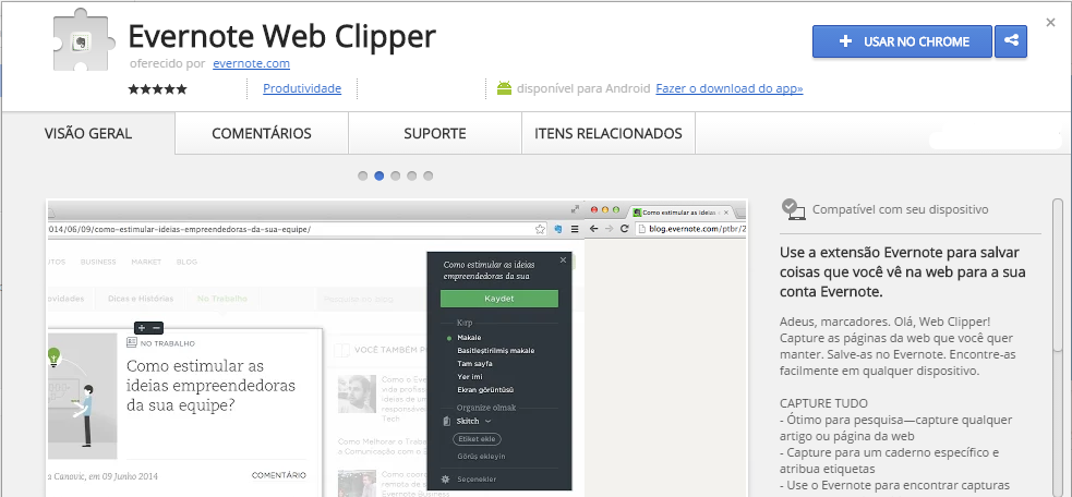 Evernote Web Clipper Chrome Web Store