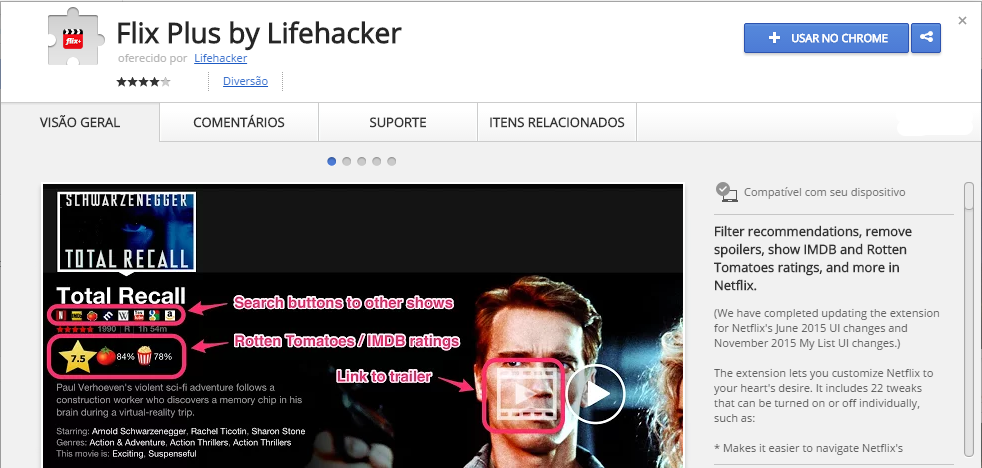 Flix Plus by Lifehacker Chrome Web Store app google chrome