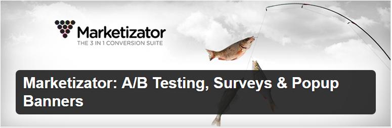 Marketizator A B Testing Surveys Popup Banners — WordPress Plugins ferramentas de testes