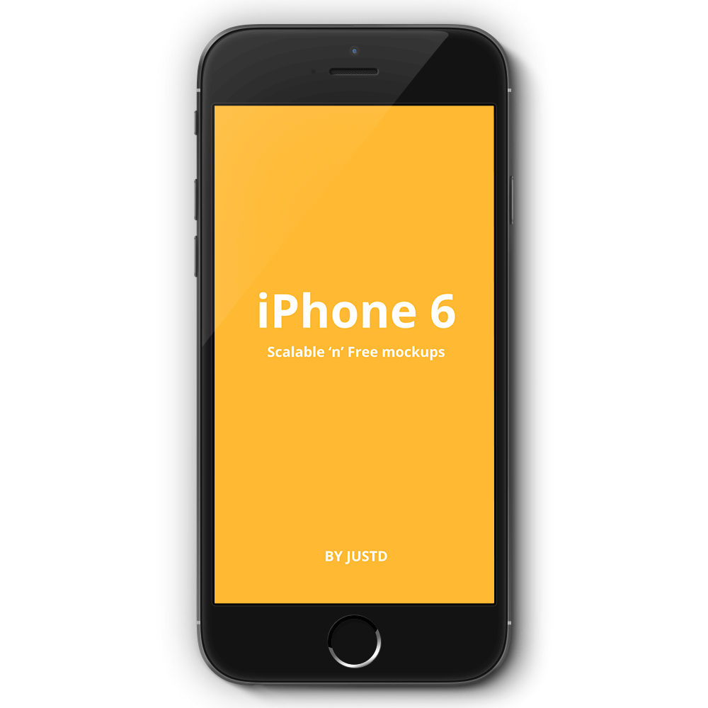 Front_View_iPhone6_PSD_Template_App Prototype