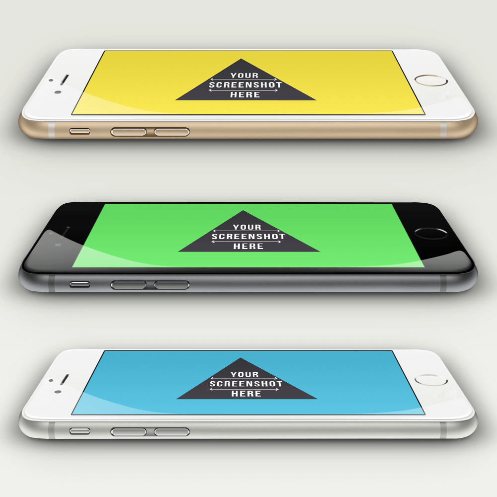 Sideview_iPhone6_PSD_Mockup_App Psd