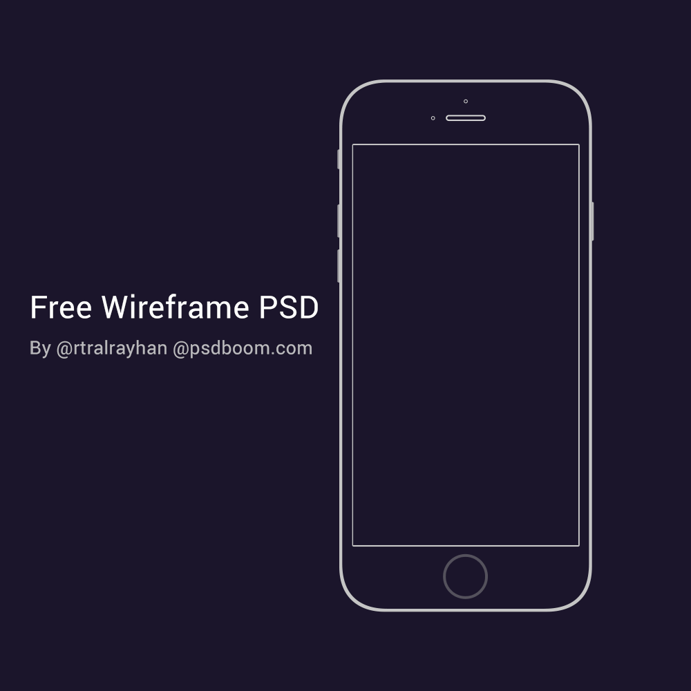 iPhone6_Wireframe_PSD_App Template Psd