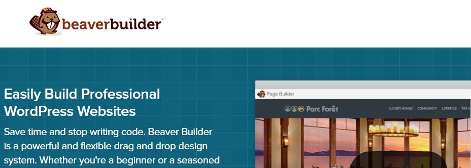 WordPress Page Builder Plugin Beaver Builder landing page
