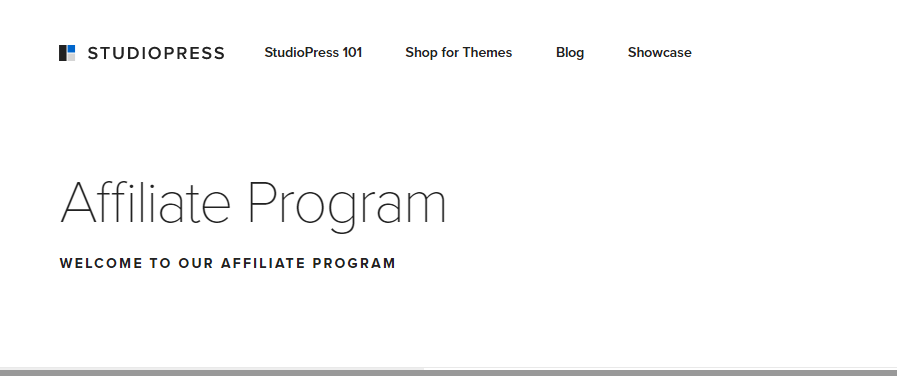 affiliate program studiopress