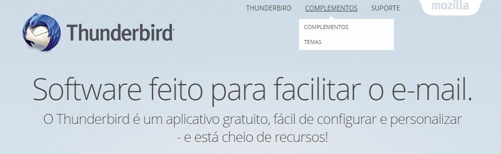 thunderbird software feito para facilitar o e-mail mozilla gerenciador de email