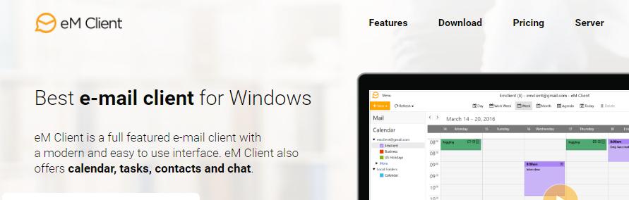 em-client best email client cliente de emails