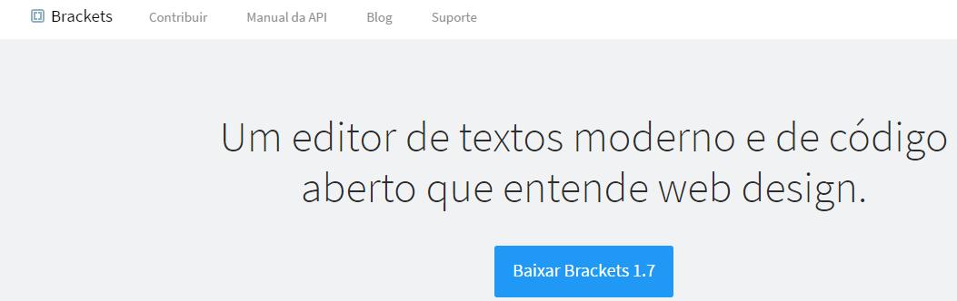 brackets um editor de textos moderno de codigo aberto que entende web design web html editor