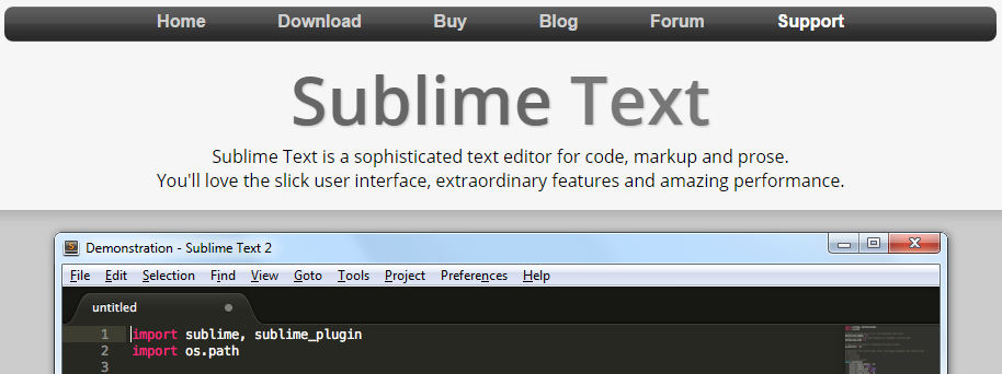 sublime text editor html online