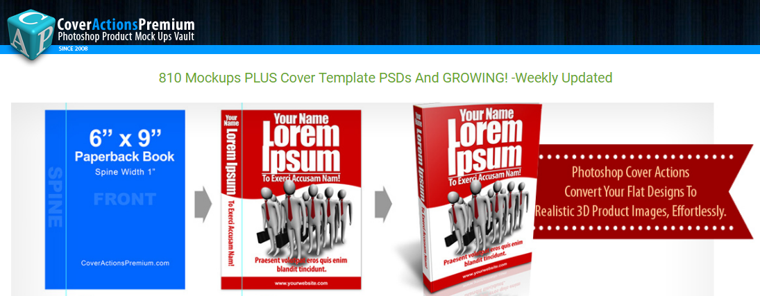 Cover Actions Premium - Psd Covers