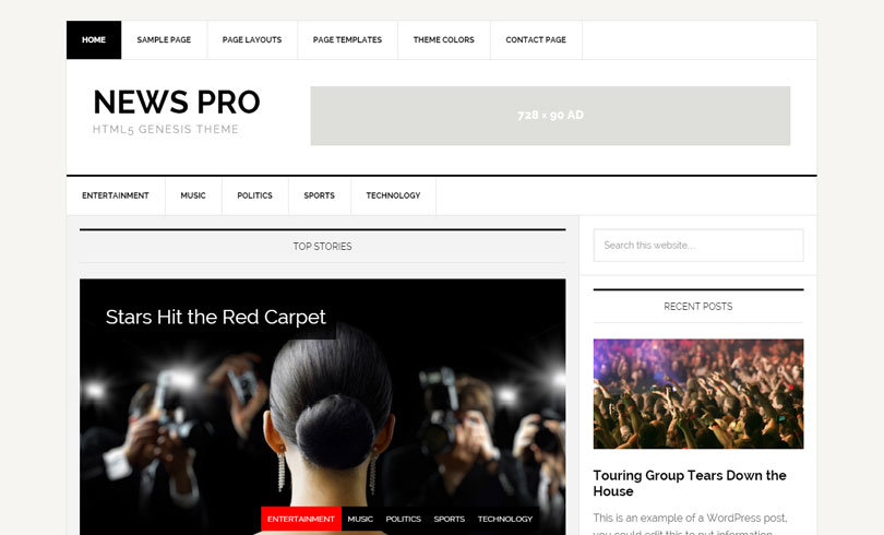 tema wordpress otimizado genesis news pro