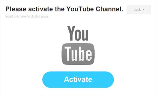 ativar canal youtube ifttt