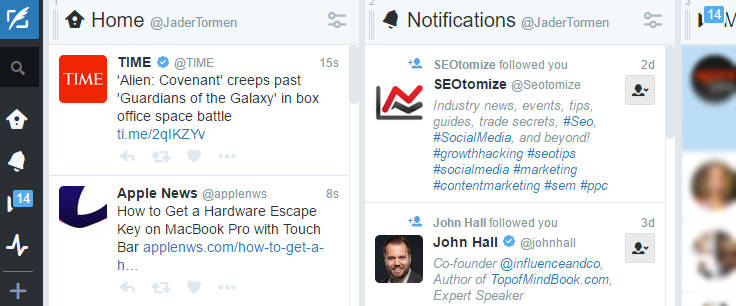 ferramentas de gerenciamento redes sociais TweetDeck