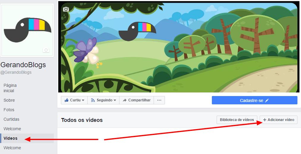 publicidade no facebook video