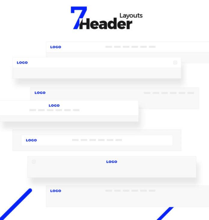 7 layouts de cabeçalho
