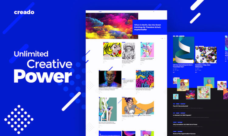 Review] Creado: Art Gallery Tema Wordpress Responsivo