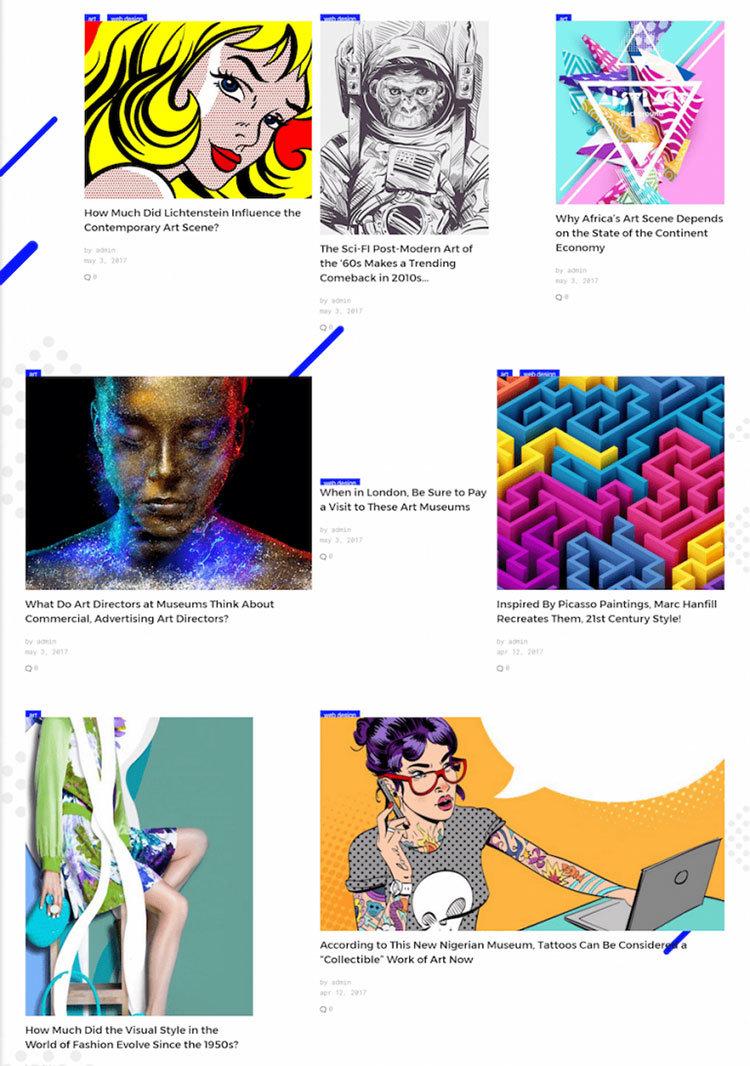 grid css tema wordpress layout responsivo