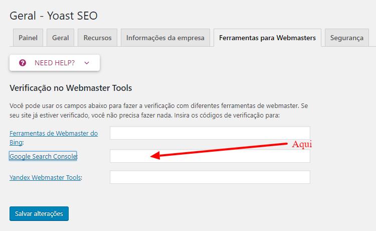 Geral Yoast SEO ‹ Gerando Blogs WordPress Gerar Sitemap