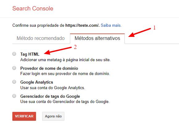Search Console gerador de sitemap
