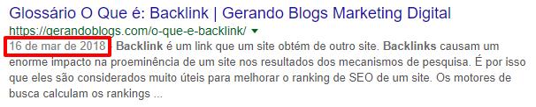 backlinks gerandoblogs Pesquisa Google fatores de classificação do google