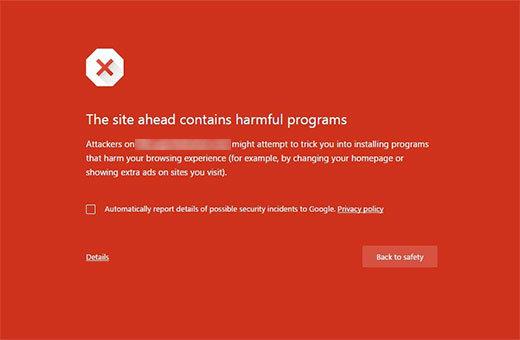 como solucionar o erro este site contem programas prejudiciais no wordpress blogs malware